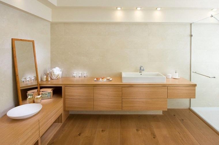 muebles suelo madera bano ducha estilo originalidad