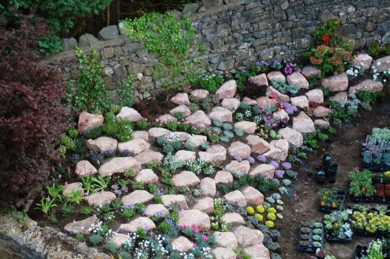 muro rocas estantico retencion piedras