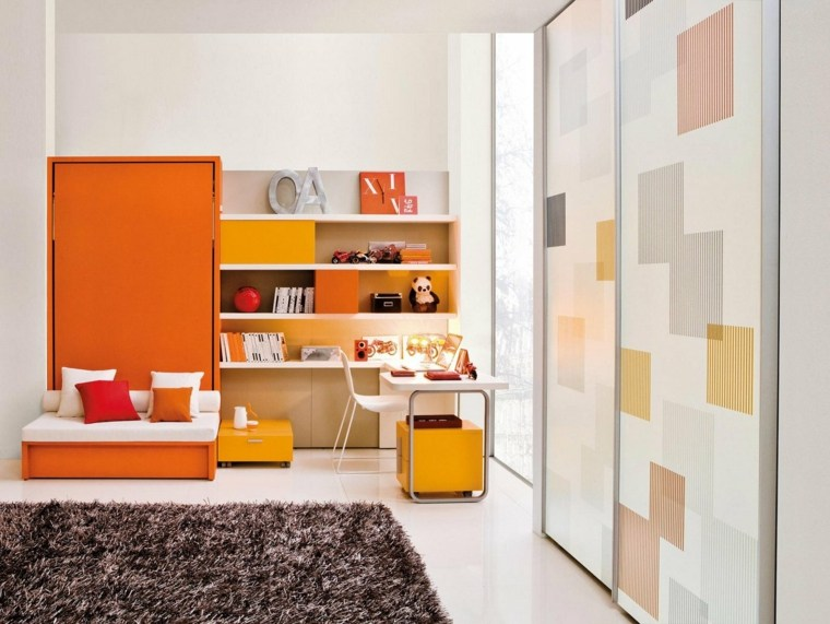 naranja ñiña interesante espacio alfombra