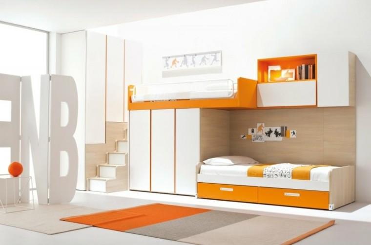 naranja blanco interesante habitacion moderno