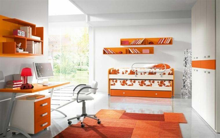 naranja espacio blanco muebles vivo