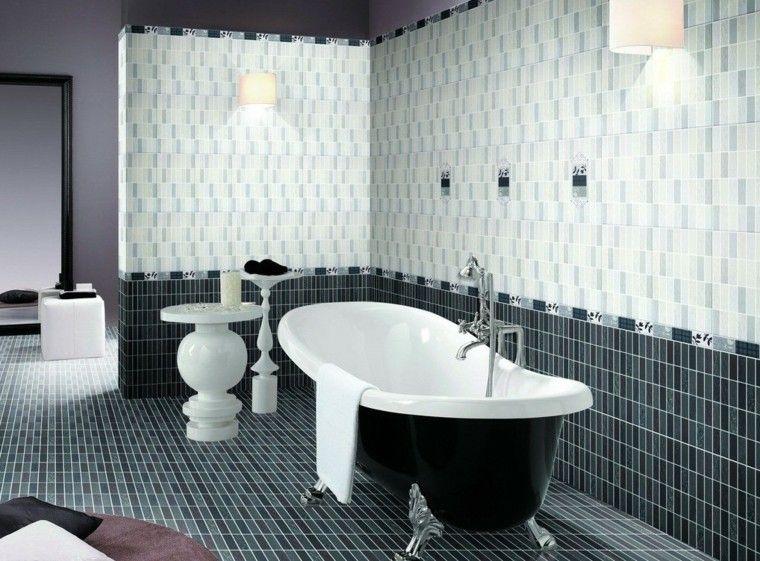 negro baño mejorado estilo bañera