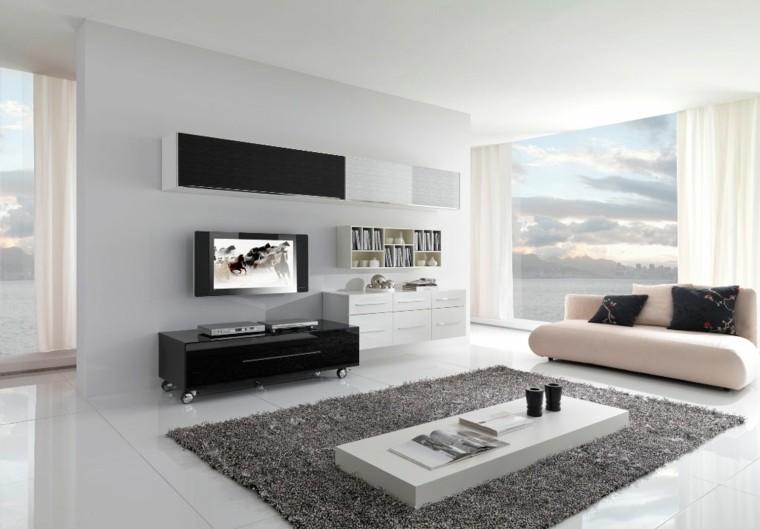 negro diseño pared plasma fresco