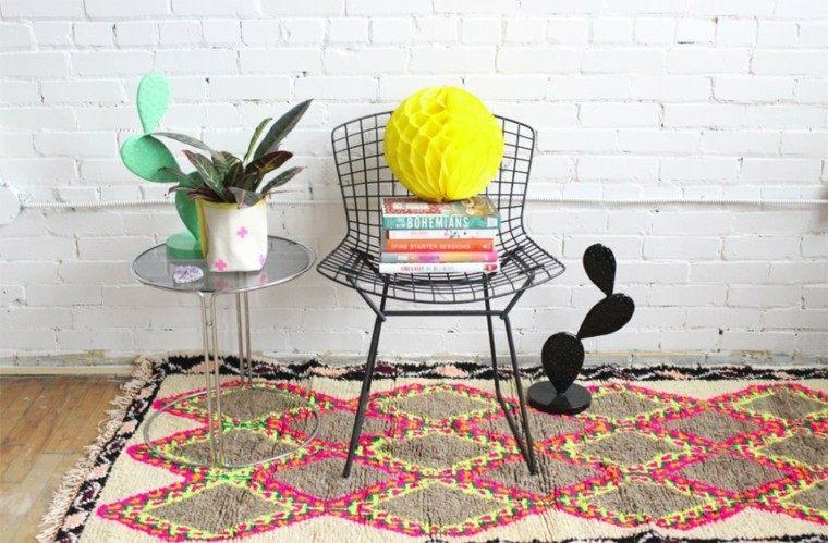 novedades decoracion alfombra silla acero negro ideas