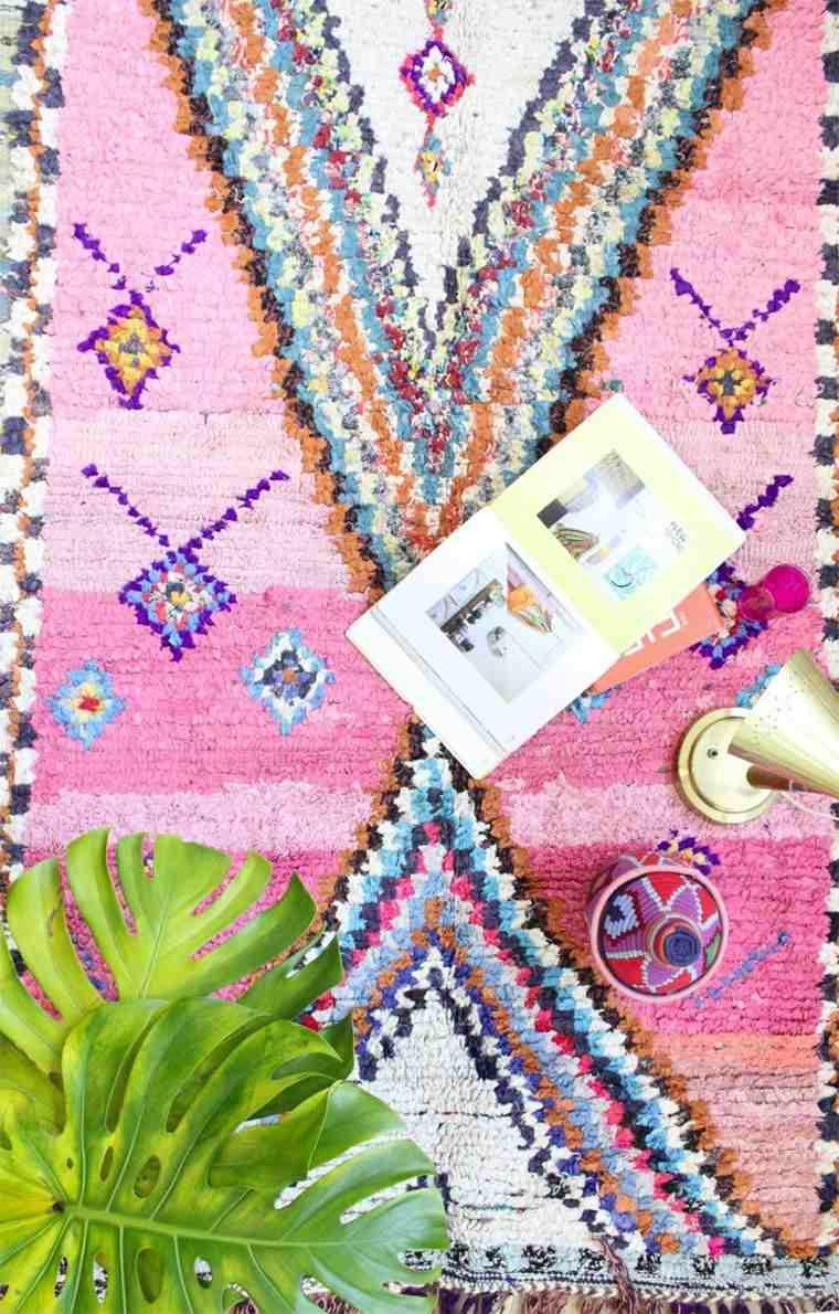 novedades decoracion boho alfombra rosa preciosa ideas