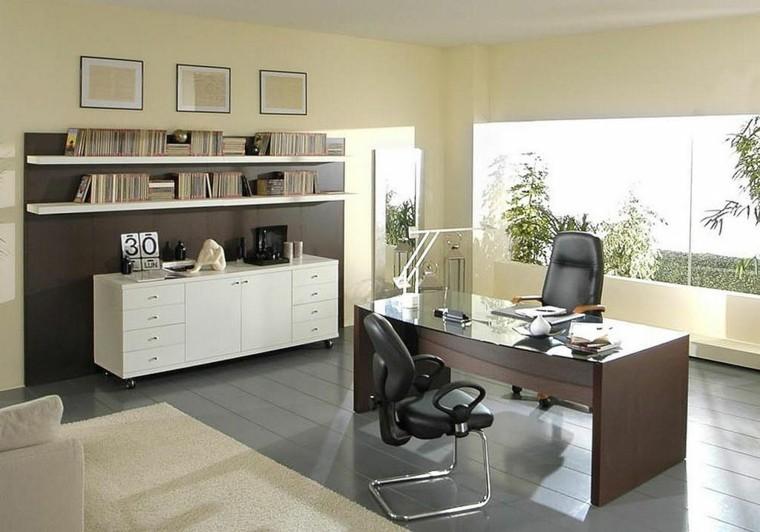 oficina despacho colores neutros mueble