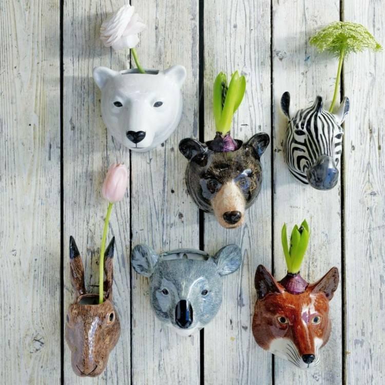 original diseño cabezas animales