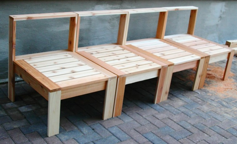 original banco palet madera