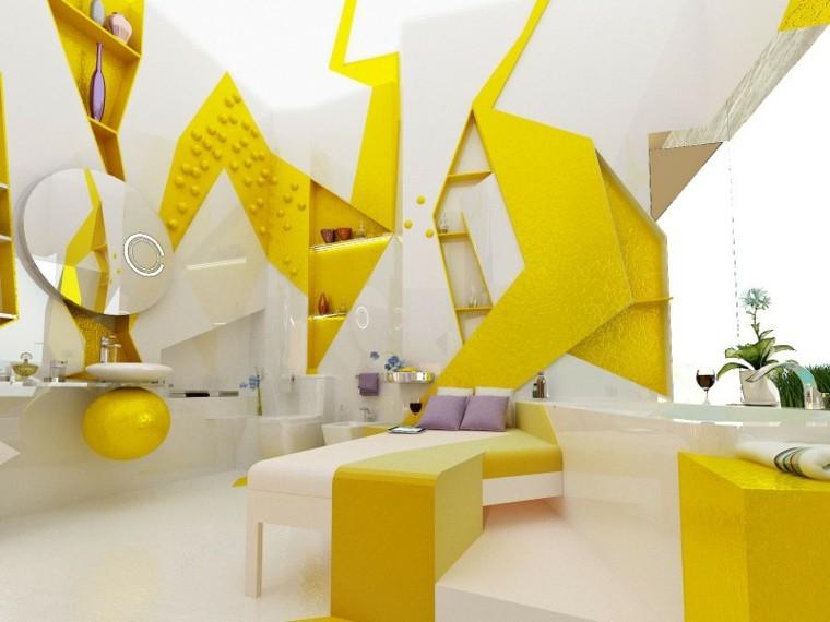original diseño cuarto baño amarillo