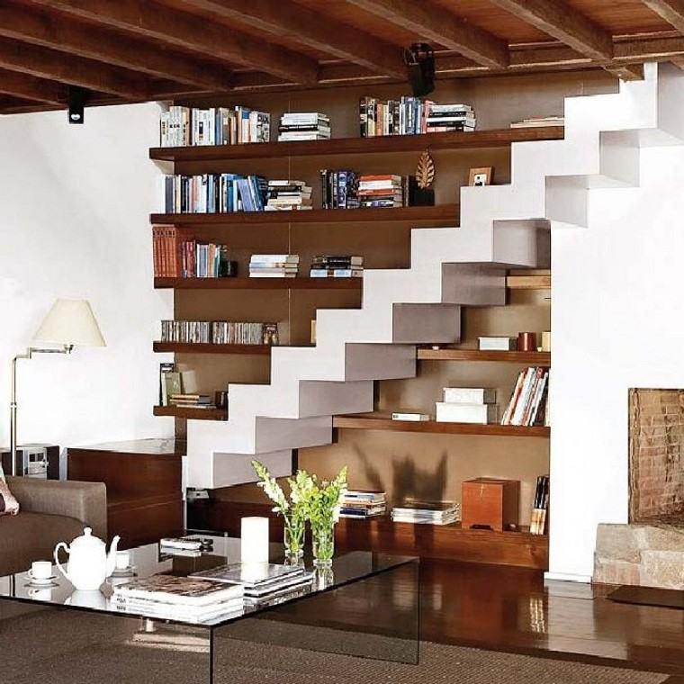 original diseño escaleras biblioteca obra
