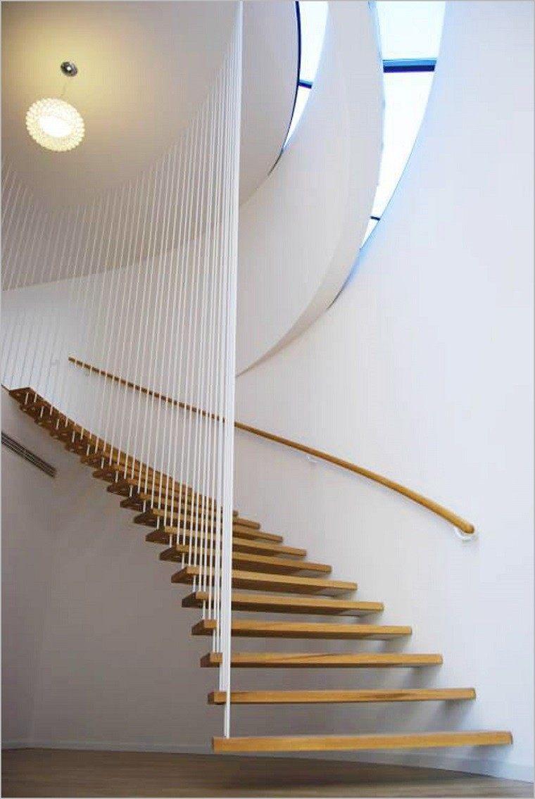 original diseño escaleras colgantes espiral