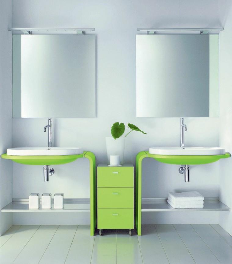 original diseño lavabos verdes modernos