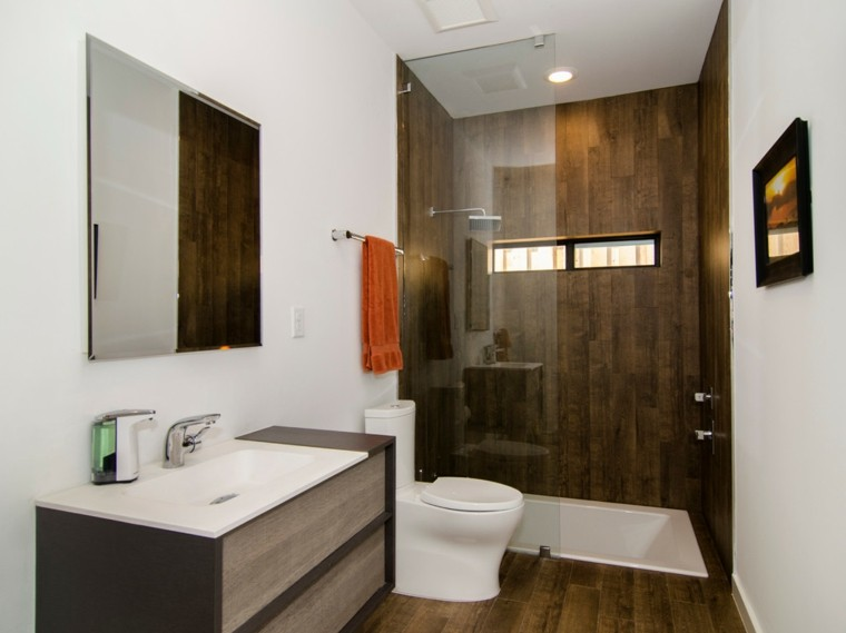 oscuro madera lavabamos muebles toalla