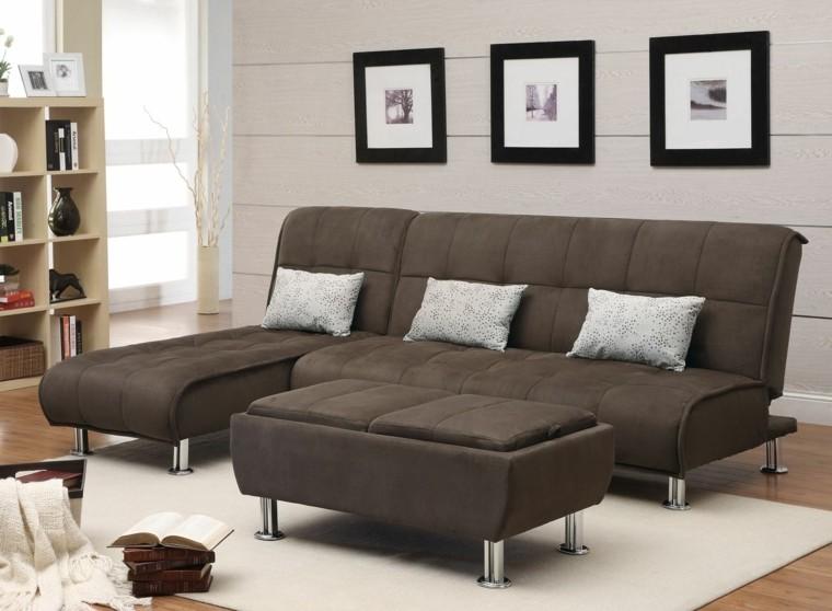 otomana mismo color sofa salon moderno ideas