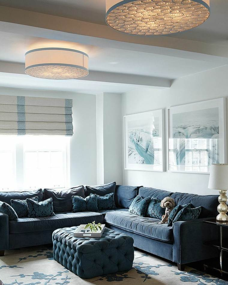 otomana negra salon estilo contemporaneo sofa negra ideas