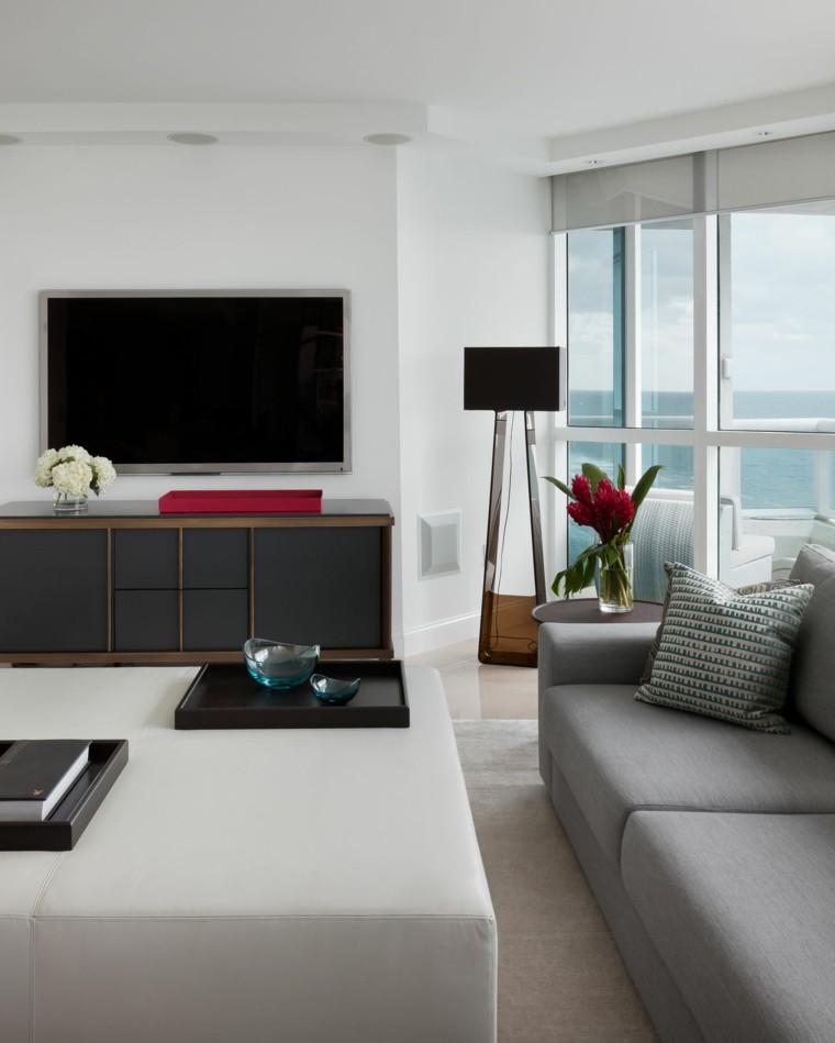 otomana salon moderno sofa gris ideas