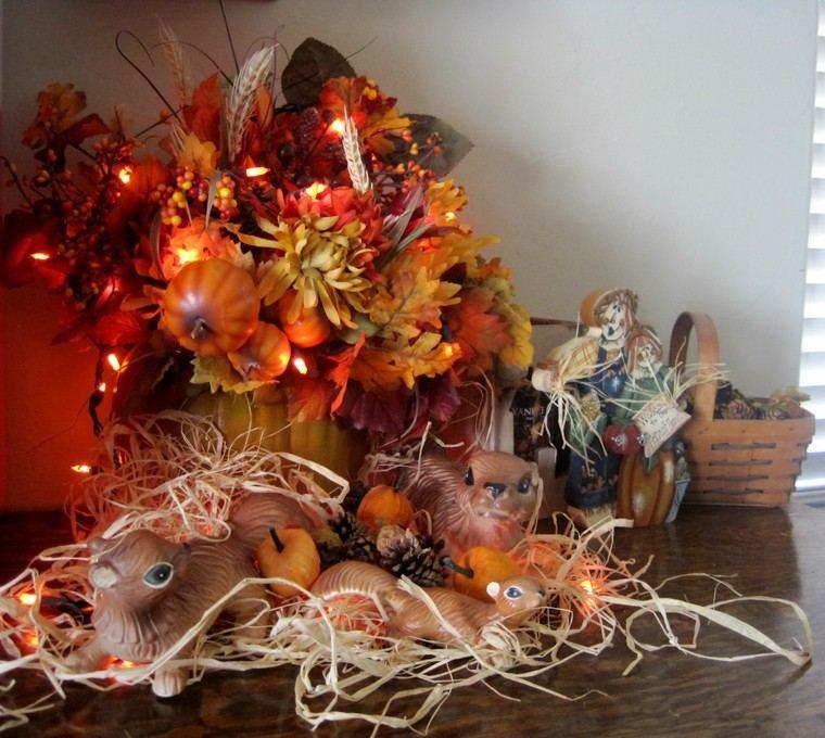 paisajes de otoño ardillas ceramica