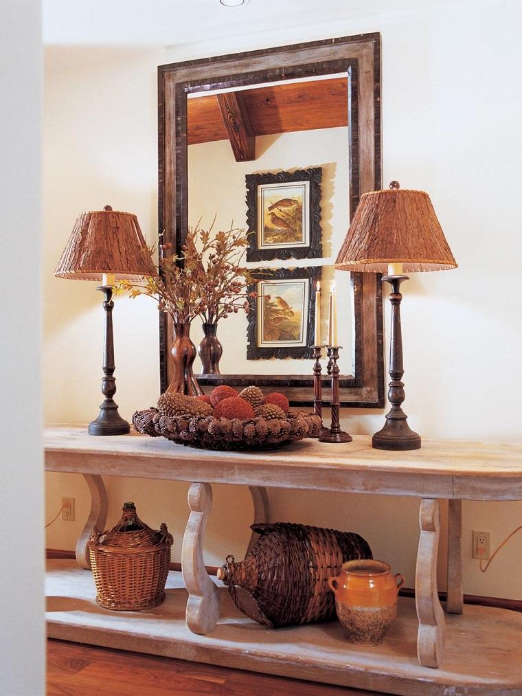 Paisajes de oto o para decora la casa 50 ideas preciosas - Decorar una entrada estrecha ...