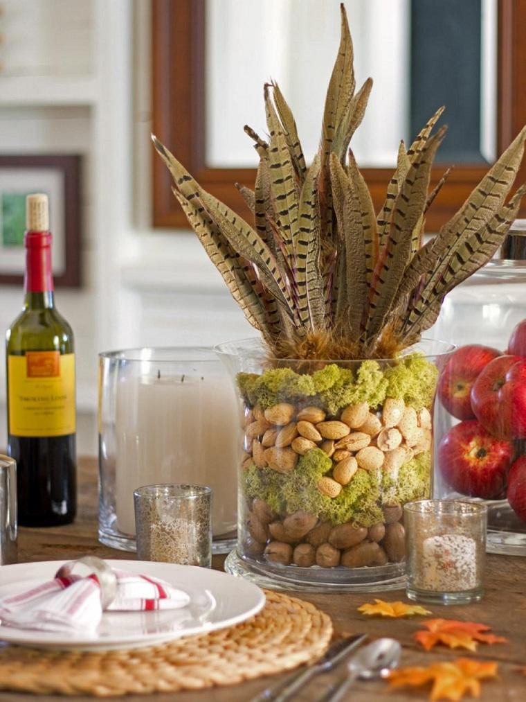 paisajes de otoño decoracion mesa cena ideas