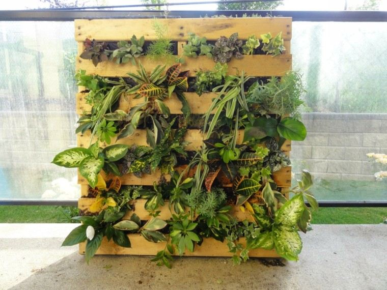 palet diy vertical jardin coleccion exterior