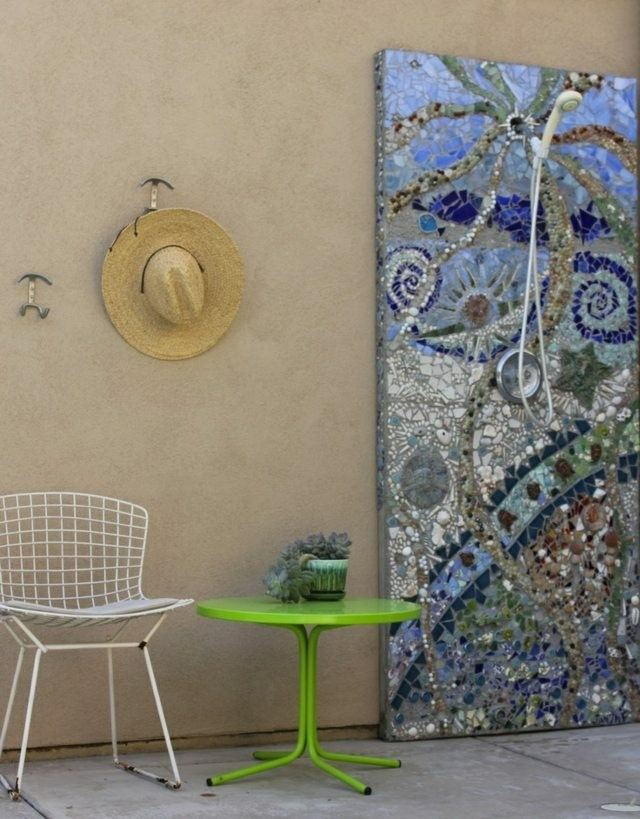 panel decorativo mosaico ducha jardin