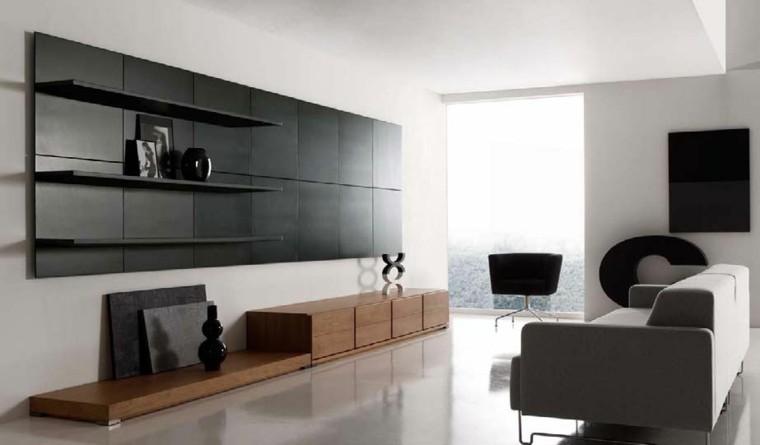 panel color negro decorativo salon