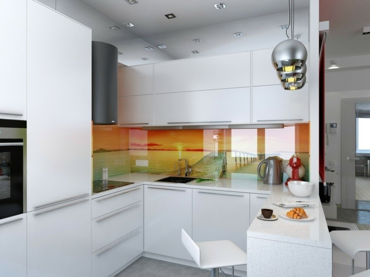 Paneles decorativos 50 ideas para la pared de la cocina - Paneles decorativos para cocinas ...