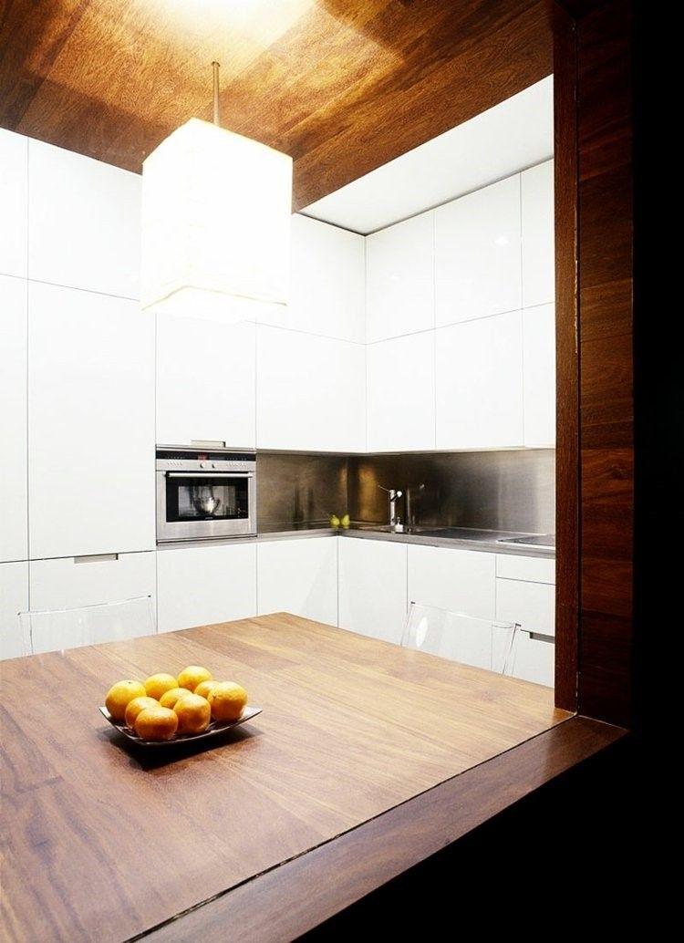 paneles decorativos estilo idustrial acero inoxidable cocins ideas