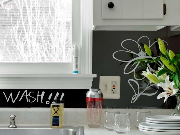 paneles decorativos frases escritas dibujos cocina ideas
