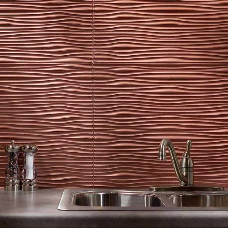 paneles decorativos losas arugadas perciosas lavabo cocina ideas