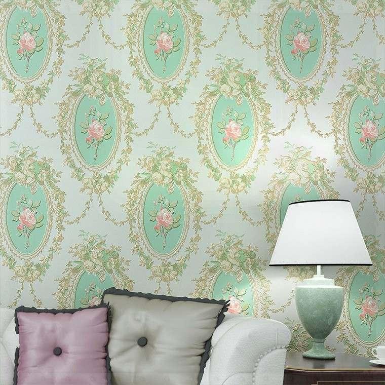 diseño papel pared estilo clasico