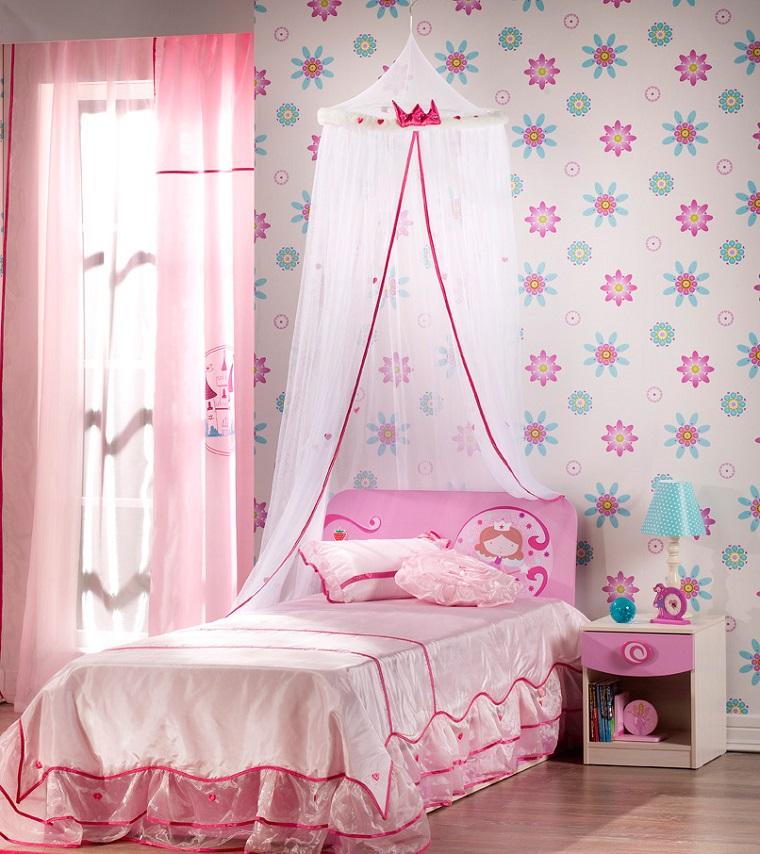 Habitaci n juvenil ni a e ideas para decorar - Dosel cama nina ...