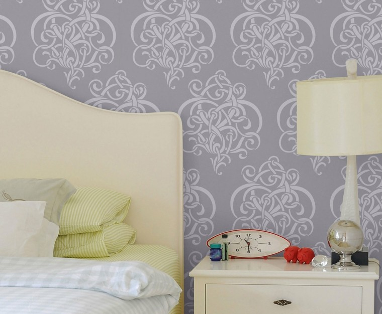 papel pared color gris lavanda
