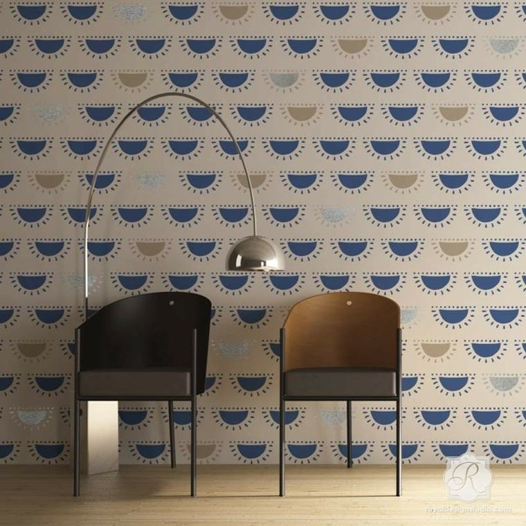 papel pared royal diseño