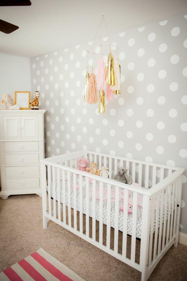 Decoracion habitacion bebe gris y blanco - Papel pared bebe ...