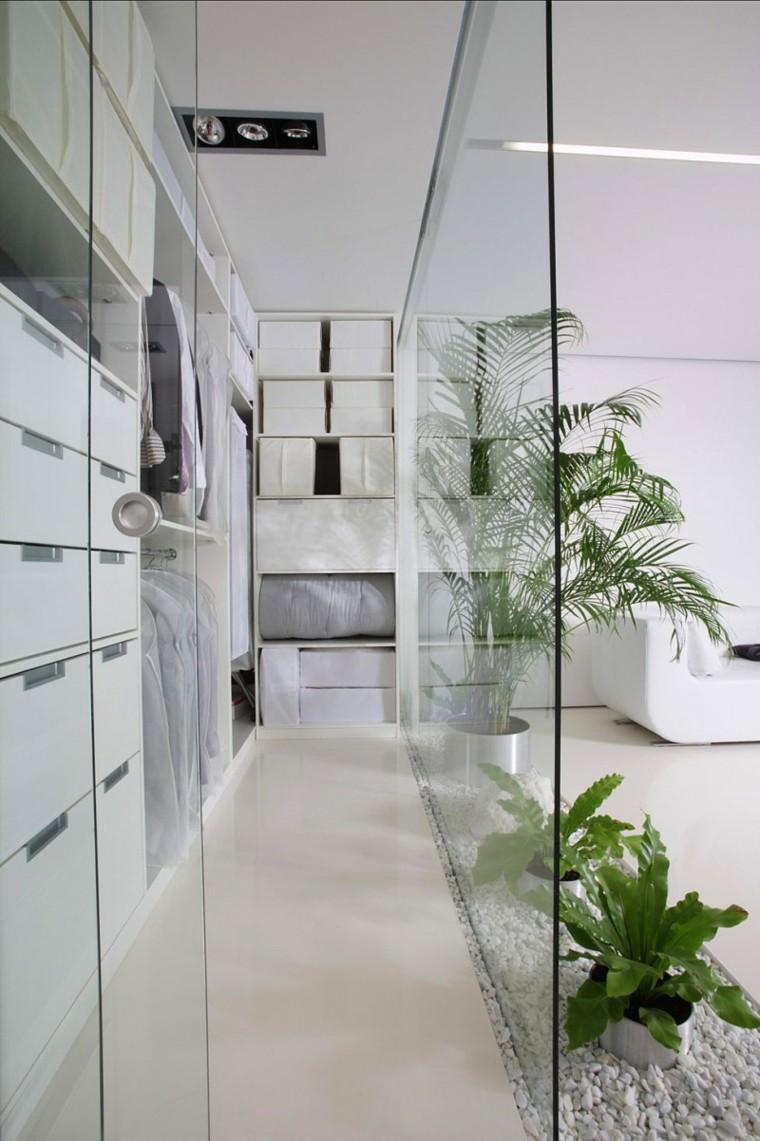 pared cristal transparente baldos blancos ideas
