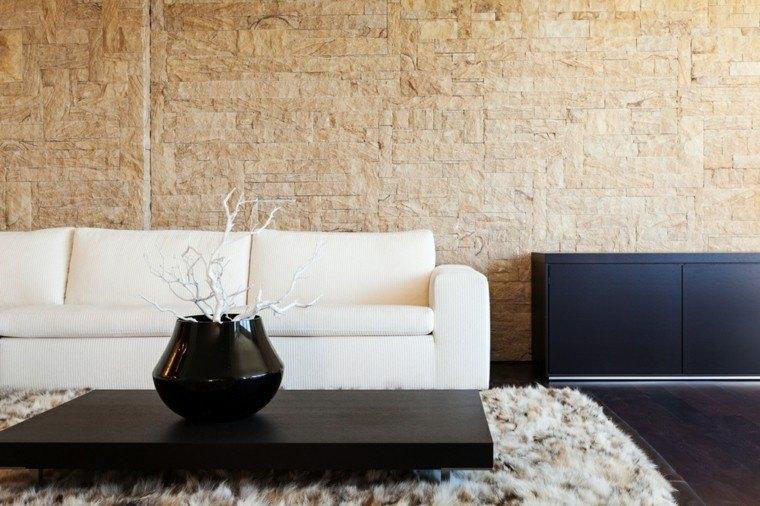 pared diseño jarron negro alfombra
