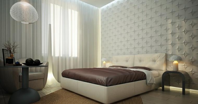pared diseño lampara esferas habitacion