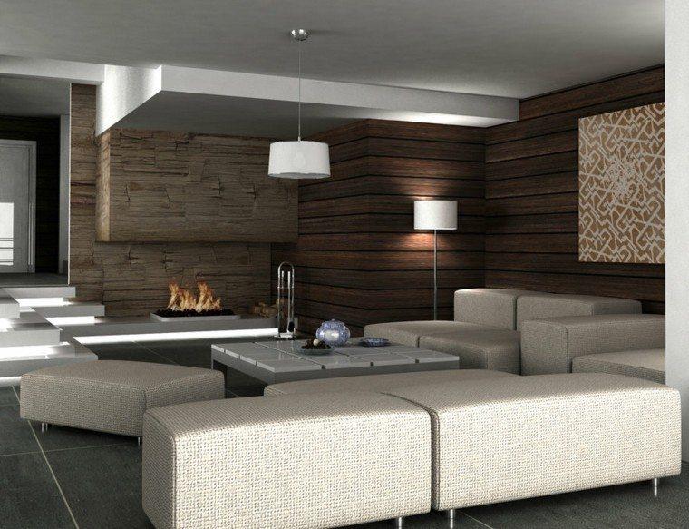 pared diseño madera hoguera paredes