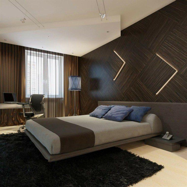 pared diseño moderna silla madera