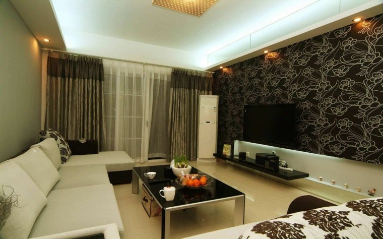 View in gallery pared diseño moderno sala led 8f888cee5596