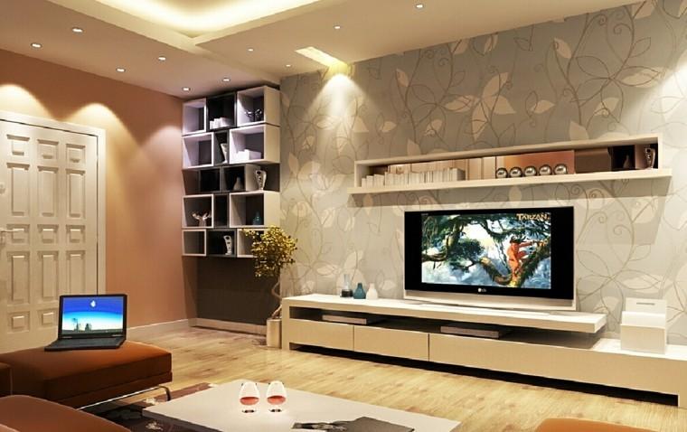 pared diseño textura salon moderno