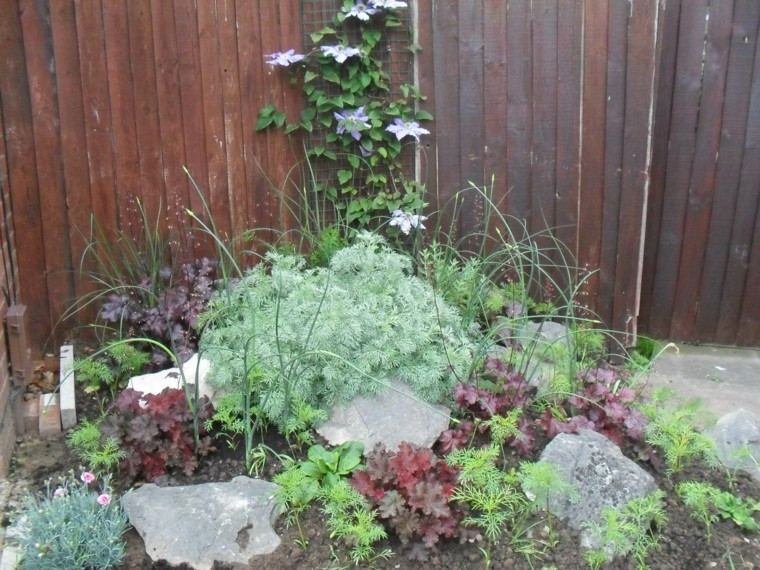 wall wood green brown flowers