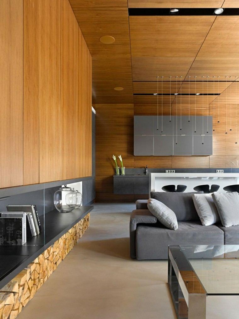 pared preciosa salon moderno abierto comedor ideas