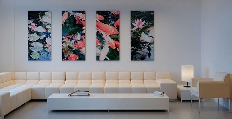 Ideas para decorar una pared de sal n que impresionan - Decorar salon con cuadros ...