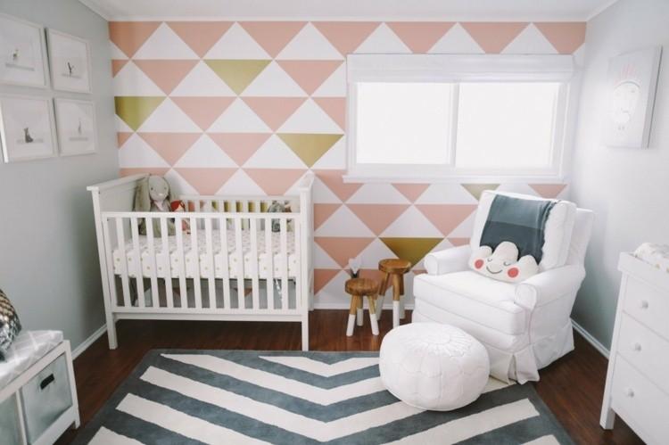 paredes color rosa niña geometrico