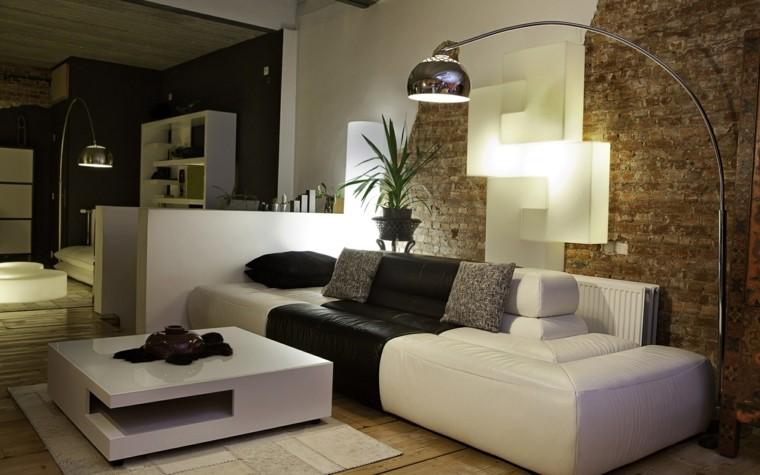 paredes ladrillo visto diseño salon
