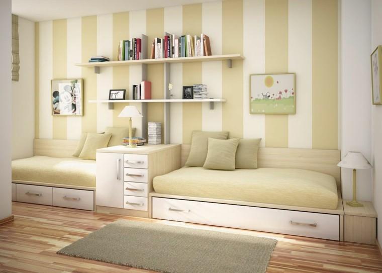 pastel calmado cuadros alfombra rayas