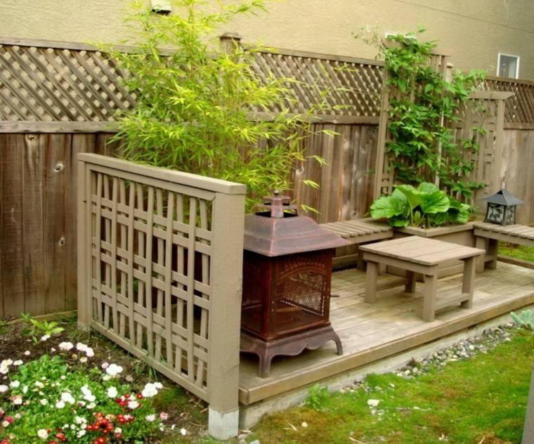 patio interior pequeño estilo zen