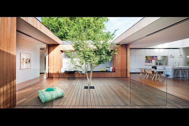patios interiores terraza madera